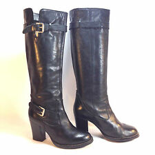wonderful MICHAEL KORS black leather double buckle dress boots 6