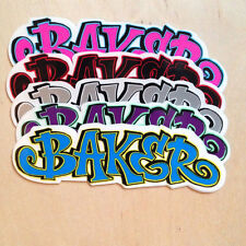 Baker skateboards sticker clear vinyl Shake Junt Andrew Reynolds logo graff