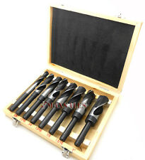 New 8pc JUMBO Drill Bit Set S & D HSS Large Drill Bit Sets