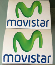 MOVISTAR Decals / Stickers Moto GP Yamaha Team Sponsor (135mm x 100mm) X2