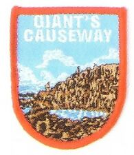 GIANTS CAUSEWAY EMBROIDERED PATCH  NORTHERN IRELAND NORTH ANTRIM