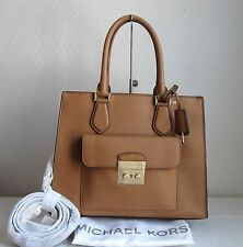 MICHAEL MICHAEL KORS Acorn BRIDGETTE MD EW LEATHER TOTE Bag Handbag Purse