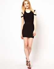 S.Y.L.K Bodycon Bandage Party Dress with Cold Shoulder Size XS UK 6 rrp £170