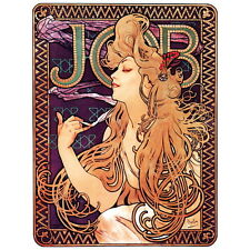 Job Rolling Paper Ad Poster by Alphonse Mucha Deco Magnet, 1896 Art Nouveau Gift
