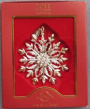 Lenox 2011 Annual Snow Majesty Snowflake Ornament New in Box