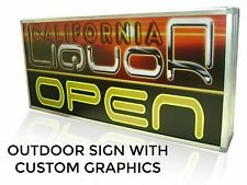 "LED Sign Light Box 22"" x 22"" Sign with CUSTOM Graphics, Outdoor Commercial Grade"