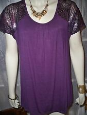 TOGETHER PINK OR WINE LOOSE FIT SPARKLE DETAIL TOP 8,10,12,14,16, 20 CLEARANCE