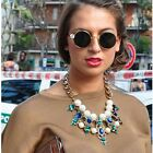 FASHION WOMEN CRYSTAL FLOWER CHOKER BIB STATEMENT NECKLACE PENDANT COLLAR CHAIN