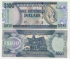 Guyana 100 Dollars ND 2011 Pick 36 UNC Uncirculated Banknote