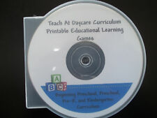 2000 printable preschool curriculum games and activities in PDF files on a CD-R.