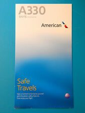 AMERICAN AIRLINES SAFETY CARD--AIRBUS 330