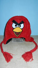 Angry Birds Red Bird Laplander Hat with Braids & Tassels One Size Y/A NWT