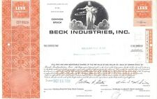 BECK INDUSTRIES INC......1969 STOCK CERTIFICATE