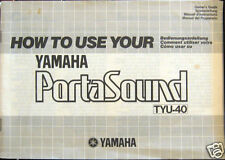 Yamaha TYU-40 Mini Keyboard Original Owner's User's Manual Book, TYU40