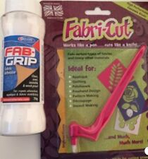 NUOVO Fabri-Cut Tool & Fab Grip Colla Package DEAL Rotary Cutter in tessuto Applique