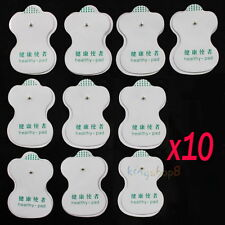 10pcs White Electrode Pads For Tens Acupuncture Digital Therapy Machine Massager