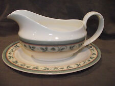Pfaltzgraff French Quarter Bone China Gravy Boat and Underplate