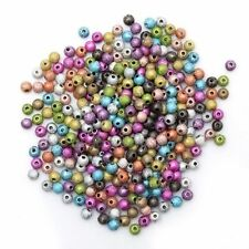 1000pcs Assorted  Frosted Stardust Acrylic Ball Spacer Beads 4mm