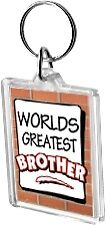 Worlds Greatest Brother Acrylic Keyring Key Ring Range Bro World