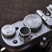 Real Leather 12mm Soft Release Shutter Button Black for Fuji X-E2 XT10 x30