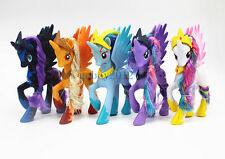 5pcs My Little Pony Princess Luna Nightmare Moon Applejack With Crown Toy Gift