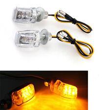 4x Motorcycle Stalk Turn Signal Light Indicator Blinker Mini 6 LED Amber Honda