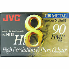 1 JVC HMP 8mm Hi8 Digital 8 Metal Particle Blank Camcorder Tape Cassette P5-90MP