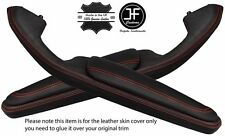 RED STITCH 2X DOOR HANDLE ARMREST LTHR COVERS FITS BMW E46 CONVERTIBLE COUPE