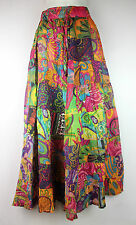 Patchwork Hippie Gypsy Bohemian Festival Cotton Skirt Dress Batik Handmade Nepal