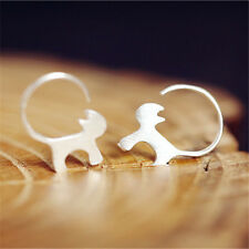 1 Pair Cat Earrings Cute Small Animal Silver Ear Studs  Earrings Jewelry Decor
