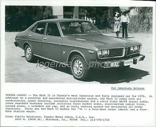 1976 Toyota Mark II Four-Door Car Original News Service Photo