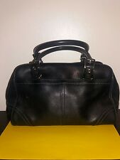 COACH Black Small  Leather Shoulder Hobo Tote Satchel Slouch Purse Bag