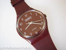 GR103! Collectible Dark Red 1983 Swatch w Original 7 HOLE BAND! Code A83-RARE!