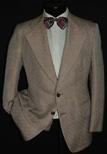 Vintage custom made men's 2 piece wide lapels DISCO suit jacket coat pant 38 S
