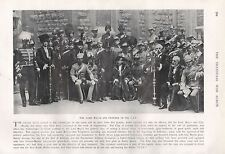 1900 BOER WAR THE LORD MAYOR AND OFFICERS OF THE C.I.V.