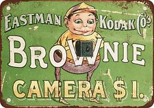 "7"" x 10"" Metal Sign - 1904 Kodak Brownie Cameras - Vintage Look Reproduction"