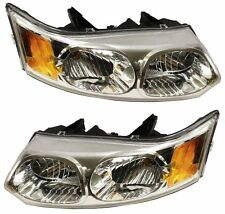 Saturn Ion 03-07 Left Lh & Right Rh Headlights Headlamps Pair Set of 2 Sedan