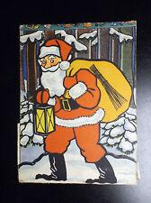 Ancienne carte dépliante Père Noel BHZ