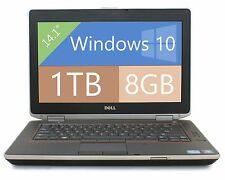 "Dell E6420 Laptop Win 10 Dual Core i5 2.5Ghz 8GB RAM 1TB HD HDMI 14"" WIFI DVDRW"
