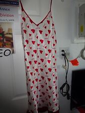 I am Da Boss Nighty Lingerie Size Large White with Red Hearts & Be Mine Poly