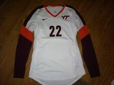 Nike Virginia Tech Hokies Volleyball Game Worn White Jersey #22