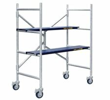 MetalTech 4 ft Scaffold 600 lb Capacity Scaffolding Rolling Drywall Platform NEW