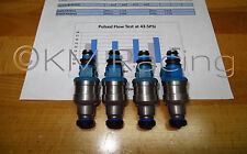 4x 450cc Blue Top DSM Fuel Injectors: Flow Tested & Ultrasonically Cleaned