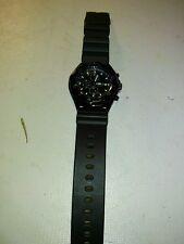 Casio AMW330B-1A1V Men's Black IP Marine Gear Chronograph Sports Diver Watch-H16
