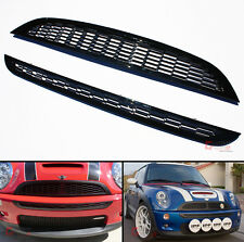 2001-2006 Mini Cooper S Front Hood Upper +Lower Bumper Blk Honeycomb Mesh Grill