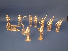 10 chrome plated solid metal toy soldiers, Britains-style Boy Scout bugler, more