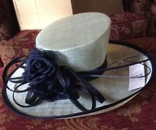 Gorgeous Navy & Mint Green wedding hat by Jacques Vert BNWT RRP £129