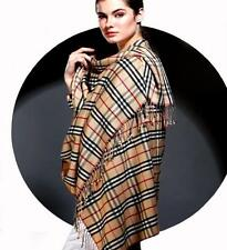 NEW PLAID CHECK 100% CASHMERE PASHMINA SHAWL/WRAP : 12 DESIGNS CHOICE