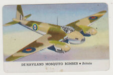 1940's Areoplanes Card of De Haviland Mosquito Bomber - Britain, Excellent Cond!