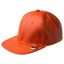 Men's Kangol Hat NWT D-Links Orange Faux Leather Cap
